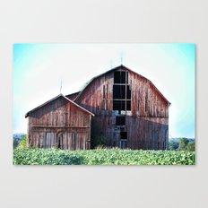 Red Barn - New York Farming Canvas Print