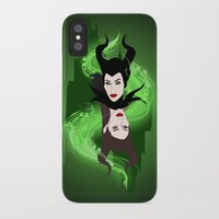 maleficent iPhone & iPod Cases featuring Maleficent by Pendientera