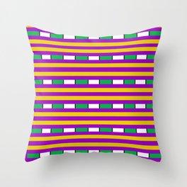 Mardi Gras Sandwhich Throw Pillow