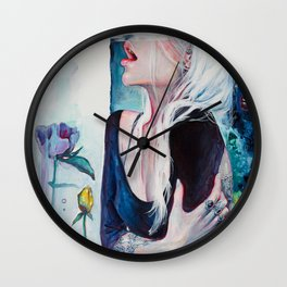 In Her Garden Wall Clock