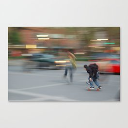 New York City Skaters #1 Canvas Print