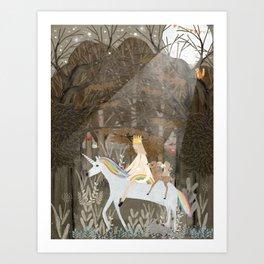 the rainbow princess Art Print
