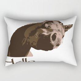 funny horse hello Rectangular Pillow