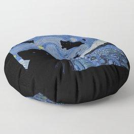 The Starry Cat Night Floor Pillow