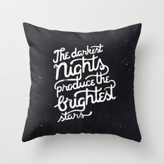 Darkest Nights Throw Pillow