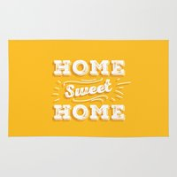 home sweet home Area & Throw Rugs featuring Home Sweet Home by Mankind Design