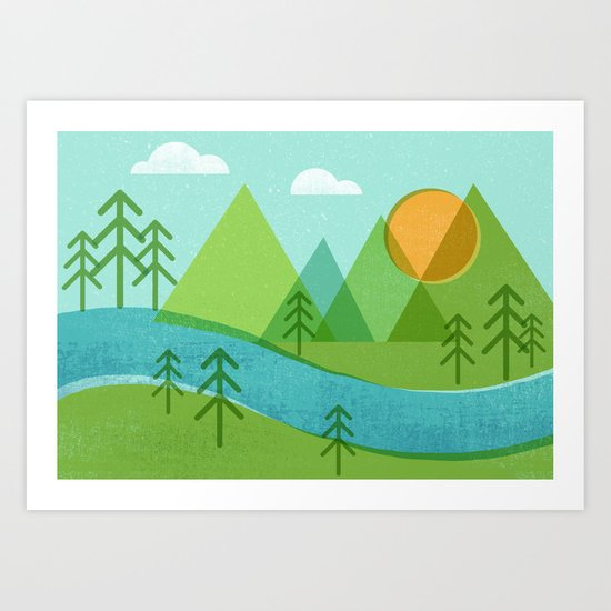 Roll On Columbia Art Print