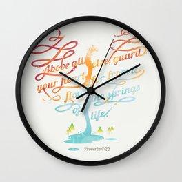 You heart Wall Clock