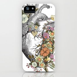 Heart With Flowers iPhone Case