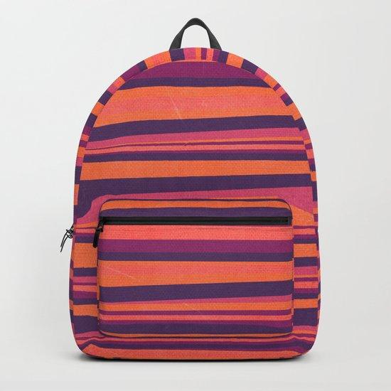 Happy Horizontal Lines Pink Version Backpack