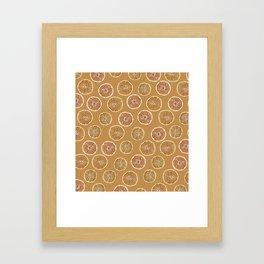 Oranges Pattern Framed Art Print