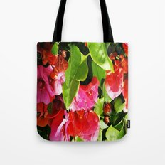 Vibrant pink and red flowers Tote Bag