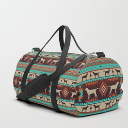 Boho dogs | Labrador retriever sunset Duffle Bag