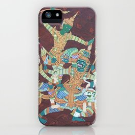 Cambodia traditional painting. iPhone Case