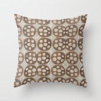 honeycomb Throw Pillows featuring Honeycomb by Finn Wild