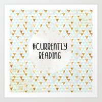 Currently Reading (Golden Triangles) Art Print
