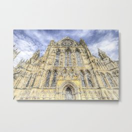 York Minster Cathedral Snow Art Metal Print
