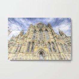 York Minster Cathedral Snow Art Metal Print