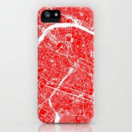 PARIS MAP ART iPhone Case