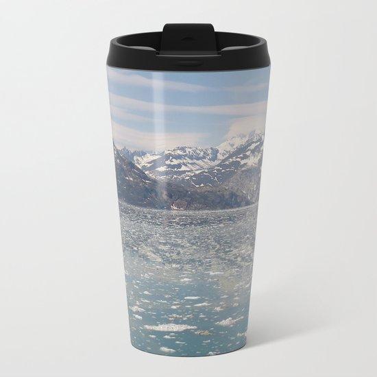 Cold Gray Mountains Metal Travel Mug