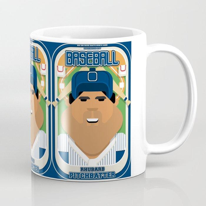 Baseball Blue Pinstripes - Rhubarb Pitchbatter - Seba version Coffee Mug