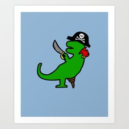 Pirate Dinosaur - T-Rex Art Print