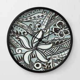 Hawaiian Slate Ocean Spray Print Wall Clock