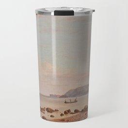 Along The New England Coast by Francis Augustus Silva, sea, water, art Travel Mug