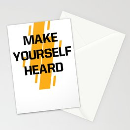 Make Yourself Heard | Motivational Tshirt | Speak Hard Shirt | Quote Lettering Tee |  Stationery Cards