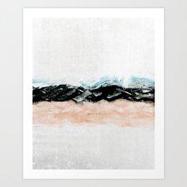 abstract minimalist landscape 10 Art Print