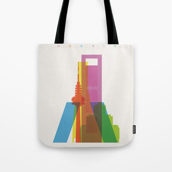 Shapes of Madrid. Accurate to scale. Tote Bag