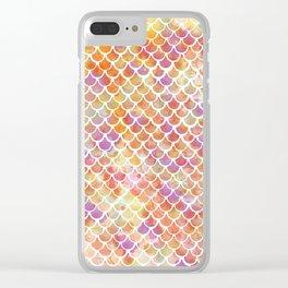 Feisty Mermaid Clear iPhone Case