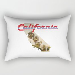 California State Map Outline Rectangular Pillow