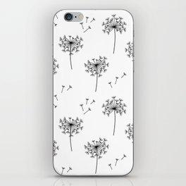 Dandelions in Black iPhone Skin