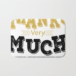 Creative Font Design Bath Mat