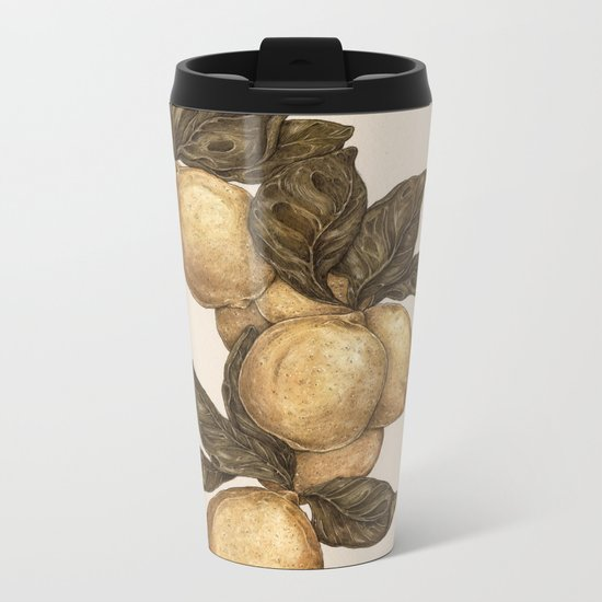 Lemons Metal Travel Mug