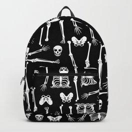 Skeleton Pattern on Black Background Backpack
