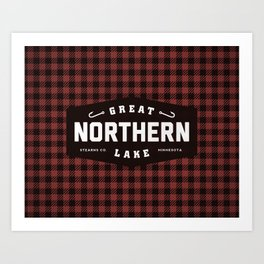 Great Northern Lake Art Print