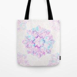 Winter Fiery Mandala Tote Bag