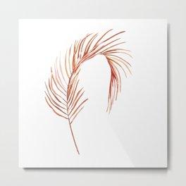 Areca palm leaf in watercolor Metal Print