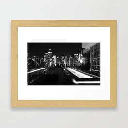 Dark NYC Framed Art Print
