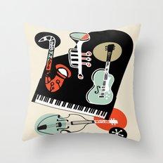 Jazz Combo Throw Pillow