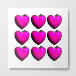 You Have My Heart all Zipped Up Metal Print