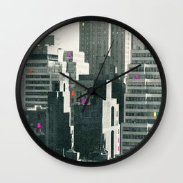 Discos in New York Wall Clock