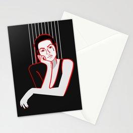 Minimal Girl Stationery Cards