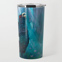 Capercaillie lek in spring Travel Mug