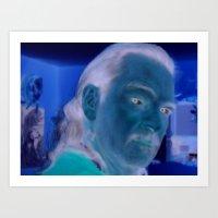 UltraViolet Self Portrait Art Print
