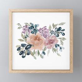 Fall Flowers + Leaves Framed Mini Art Print