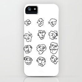faces on faces iPhone Case