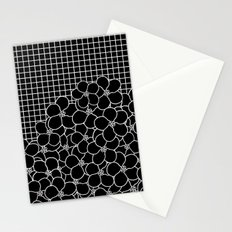 Forget Me Knot Grid Black Stationery Cards